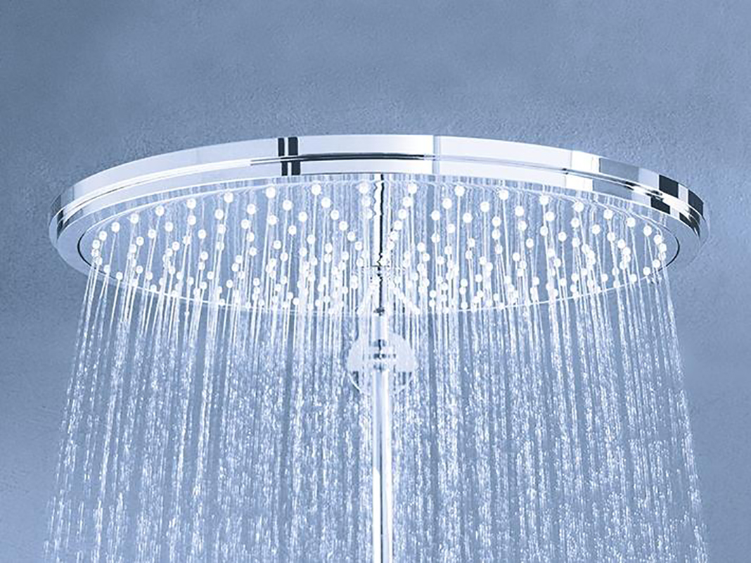 Фото Верхний душ Grohe Rainshower Cosmopolitan Metal 26067000 310 мм с кронштейном